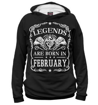 Мужское Худи Легенды рождаются в феврале