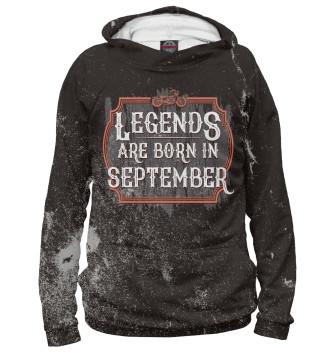 Мужское Худи Legends Are Born In September