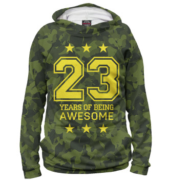Женское Худи 23 Years of Being Awesome