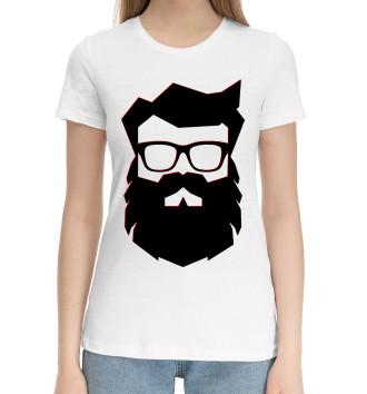 Женская Хлопковая футболка Дед мороз