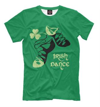 Мужская Футболка Ireland, Irish dance