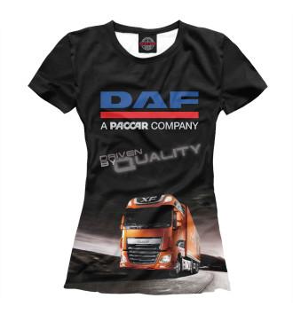 Женская Футболка DAF - Driven By Quality