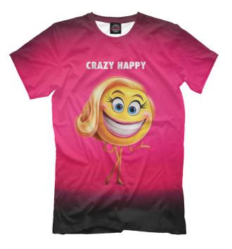 Мужская Футболка Crazy Happy