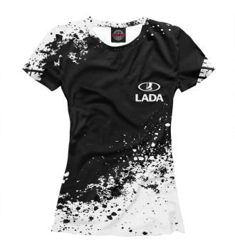 Женская Футболка Lada abstract sport uniform