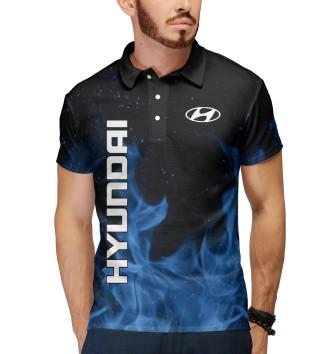 Мужское Поло Hyundai blue fire