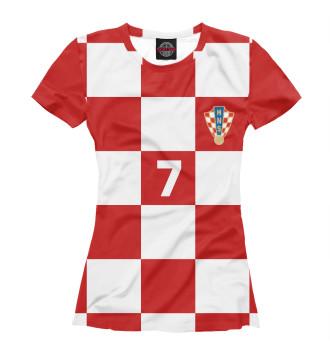 Женская Футболка Ракитич Хорватия 7