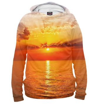 Мужское Худи Потрясающий закат на море