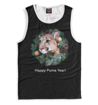 Мужская Майка Happy Puma Year!