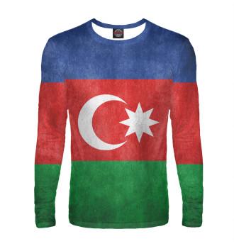 Мужской Лонгслив Флаг Азербайджана