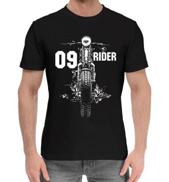 Мужская Хлопковая футболка 09 rider