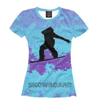 Женская Футболка Snowman
