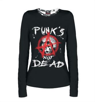 Женский Лонгслив Punk's Not Dead