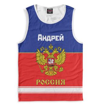 Мужская Майка Хоккеист Андрей