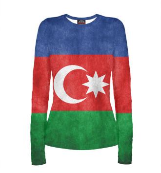 Женский Лонгслив Флаг Азербайджана
