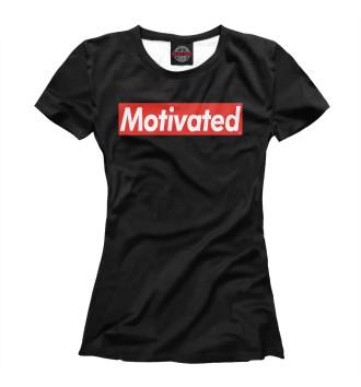 Женская Футболка Motivated (Black)