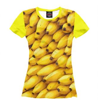 Женская Футболка Бананы 3D