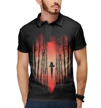 Мужское Поло Ниндзя в лесу