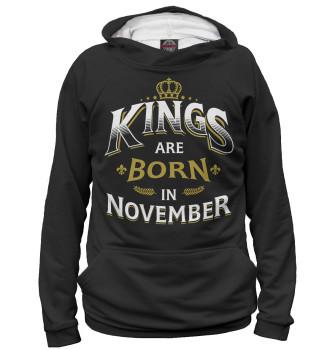 Женское Худи Короли рождаются в ноябре