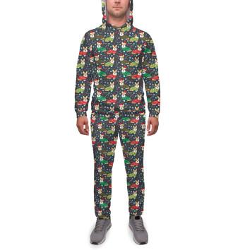 Мужской Спортивный костюм Happy christmas corgi