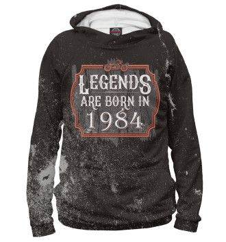 Женское Худи Legends Are Born In 1984