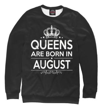 Мужской Свитшот Королевы рождаются в августе