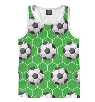 Мужская Борцовка Футбольные мячи на зеленом фоне
