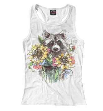 Женская Борцовка Енот с цветами