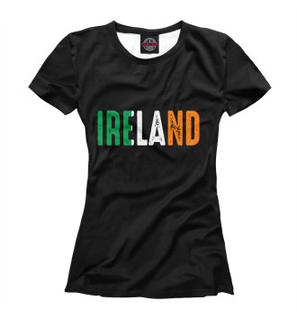 Женская Футболка IRELAND - ИРЛАНДИЯ