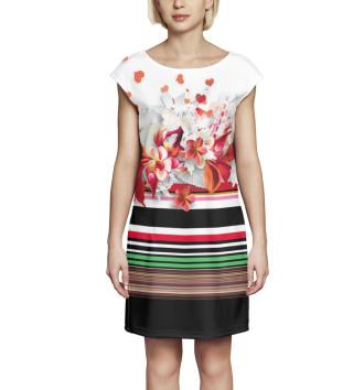 Женское Платье без рукавов Цветы