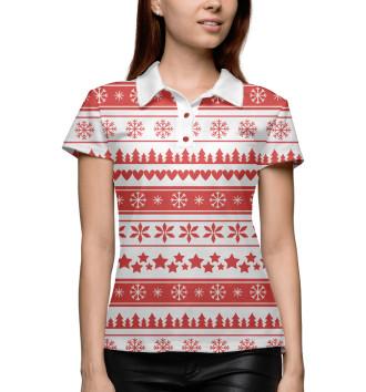 Женское Поло Новогодний свитер