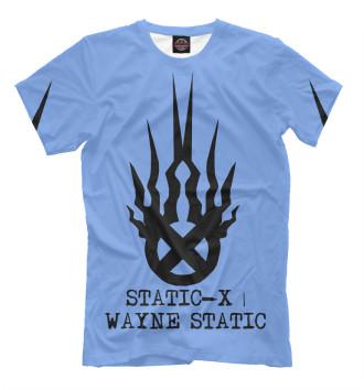 Мужская Футболка Static-X | Wayne Static Blue