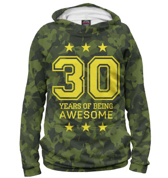 Женское Худи 30 Years of Being Awesome