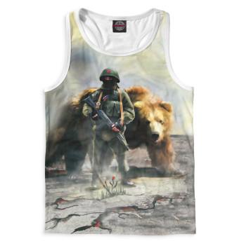 Мужская Борцовка Солдат и медведь