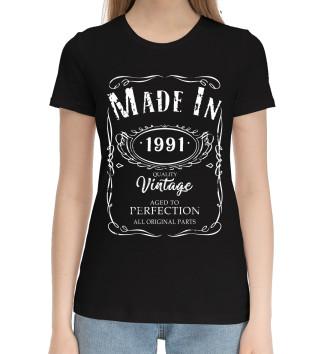 Женская Хлопковая футболка 1991