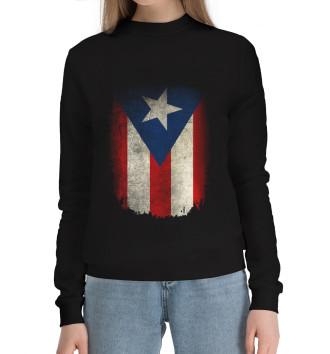 Женский Хлопковый свитшот Пуэрто-Рико