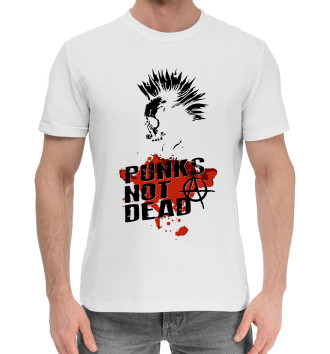 Мужская Хлопковая футболка Punks not dead