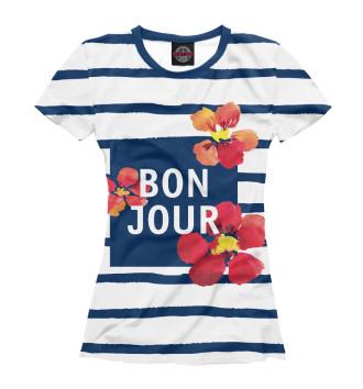 Женская Футболка Bonjour