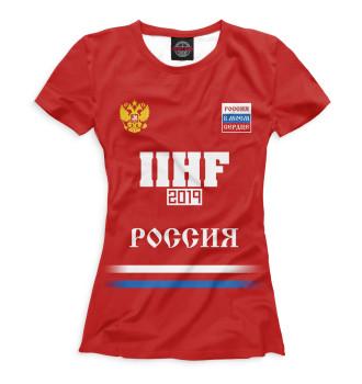 Женская Футболка Сборная России