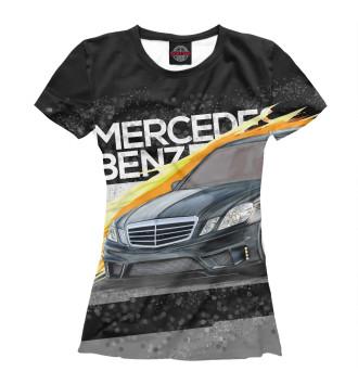 Женская Футболка Mercedes-benz E-class
