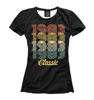 Женская Футболка 1983 Classic