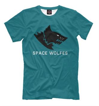 Мужская Футболка Space Wolfes