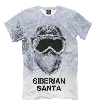 Мужская Футболка Сибирский Санта