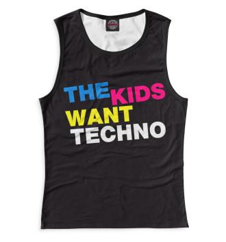 Женская Майка I Love Techno
