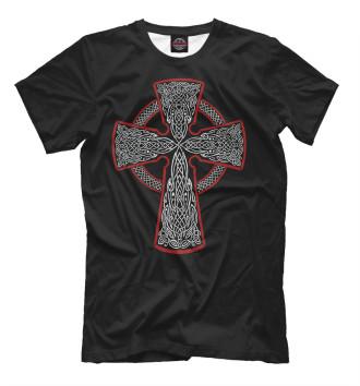 Мужская Футболка Кельтский крест