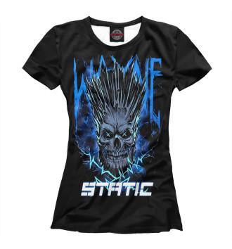 Женская Футболка Static-X