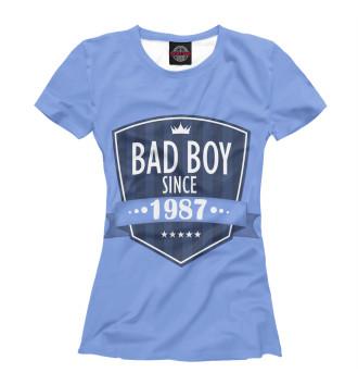 Женская Футболка Плохой мальчик с 1987