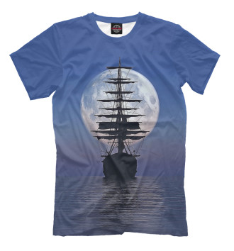 Мужская Футболка Ship boat
