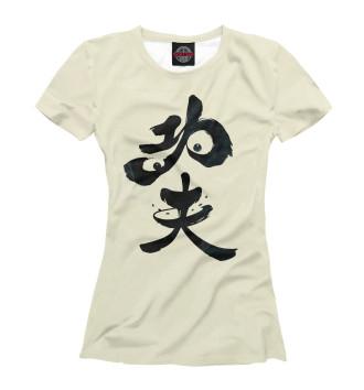 Женская Футболка Panda Hieroglyph