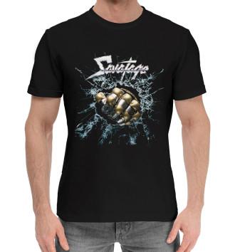 Мужская Хлопковая футболка Ssavatage