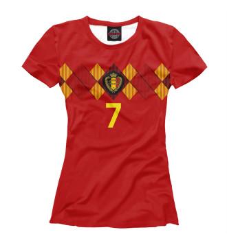 Женская Футболка Кевин Де Брёйне - Сборная Бельгии